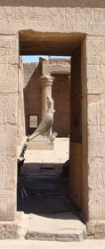 Horus statue at Edfu Temple