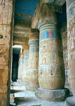 Pillared Hall, Medinet Habu Temple, Ramesses III, West Bank of Luxor