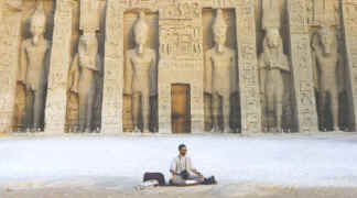 Rob Rocks at the Nefertari Temple - Abu Simbel