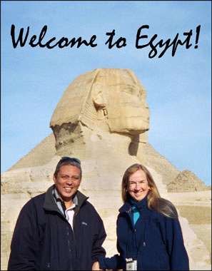 Ruth Shilling & Ehab Mahmoud at the Great Sphinx, Giza
