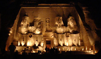 The Spectacular Sound & Light Show at Abu Simbel, Egypt. Photo: Ruth Shilling