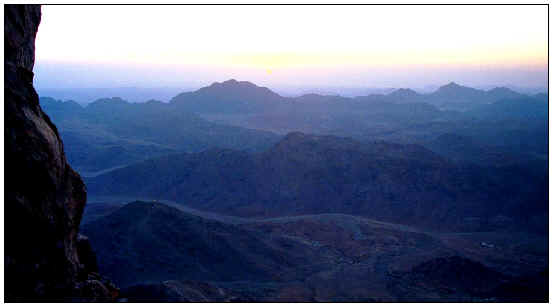 Early dawn from the top of Mount Sinai